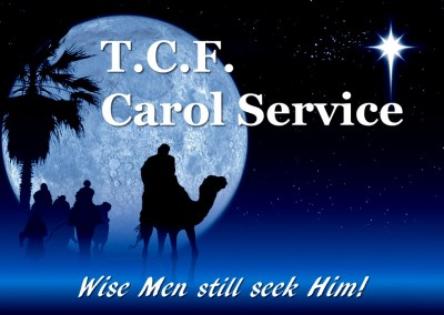 TCF Carol Service + Carol singing outside Iceland